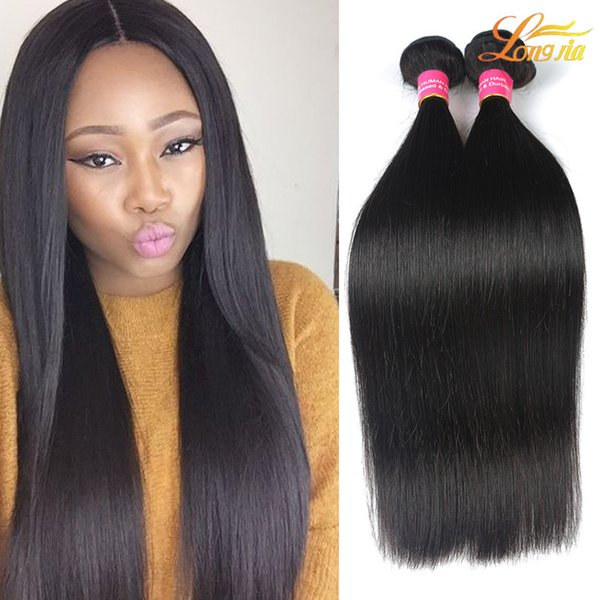 Factory 100% Indian Human Hair Weave Virgin Human Straight Hair Bundles Natural Color Unprocessed Human Hair Extension Machine Double Weft