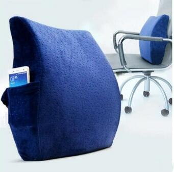 memory foam ergonomic lumbar back support cushion pillow for lower
