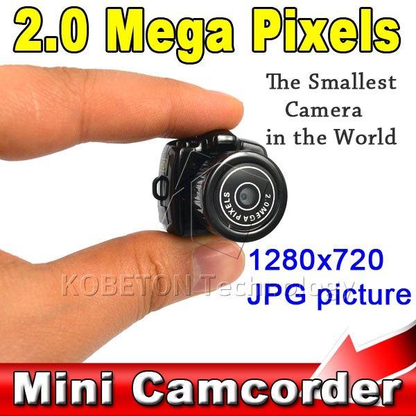 Lowest Price Micro Portable HD CMOS 2.0 Mega Pixel Pocket Video Audio Digital Camera Mini Camcorder 640*480 480P DV DVR 720P