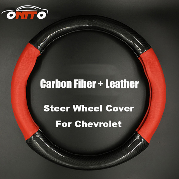 Gute qualität 380 MM Auto Lenkung Radabdeckung Carbon FiberLeder lenkrad gehäuse für lanos orlando captiva lacetti aveo niva cruze