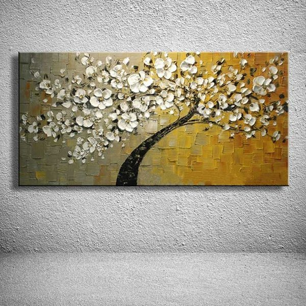 Free Shipping,Pure Hand Painted Modern Abstract Art Oil Painting Flower,Home Wall Decor On High Quality Canvas size can be customized