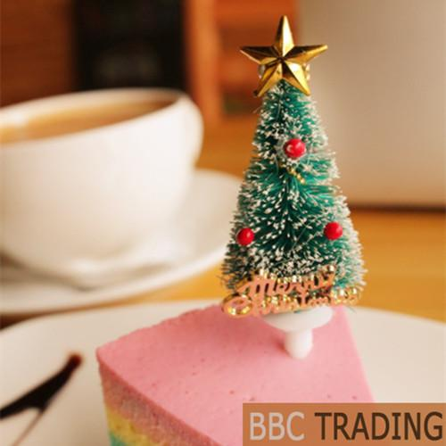 Christmas Cake Decoration Christmas Party Decorating Supplies Cake Picks Toppers 12 pcs/lot