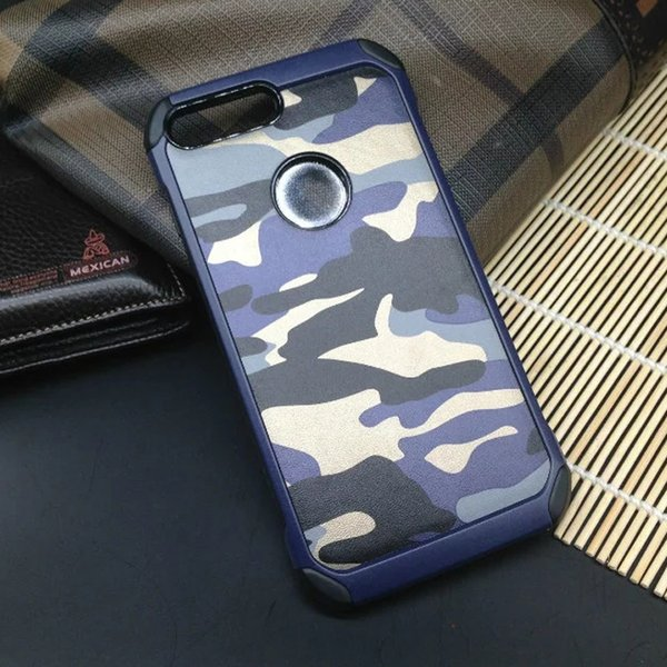 Camouflage PC + TPU Smart Phone Case Back Cover For Iphone 7 Samsung S8 Xiaomi Huawei LG Ipad Asus OPPO Vivo With retail package 50pcs