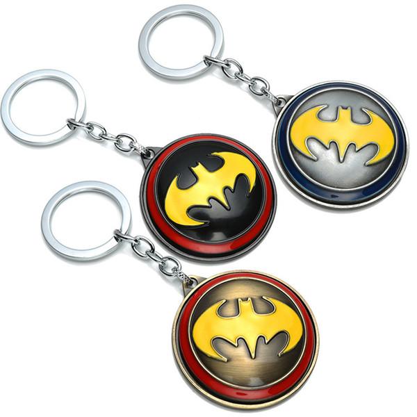 Moda Batman 3 Colores Llavero Joyería de la Película Aleación Giratoria Llaveros Llavero llavero Titular de Regalo