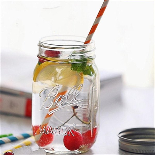 Необычные Мейсон банку стеклянная бутылка напитка фруктовый джем горшок герметичный контейнер овощной салат олова прозрачное стекло с крышкой 1 45hc A R