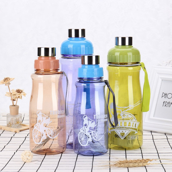 Portable Water Bottle Adult Outdoor Sport Plastic Drinking Space Cup With Lift Rope Heat Resisting Multicolor 6 3sj C R