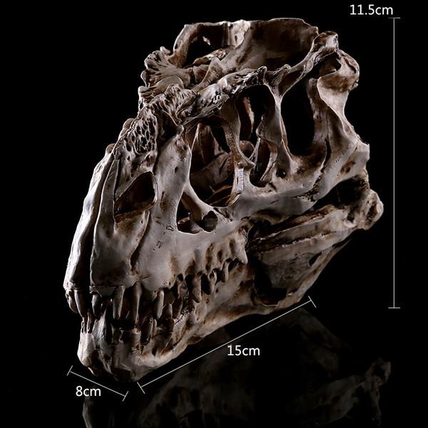 Tyrannosaurus dinosaurio resina modelo de cráneo enseñanza espécimen arte resina animal esqueleto halloween fiesta de cumpleaños decoración del hogar artesanía bar