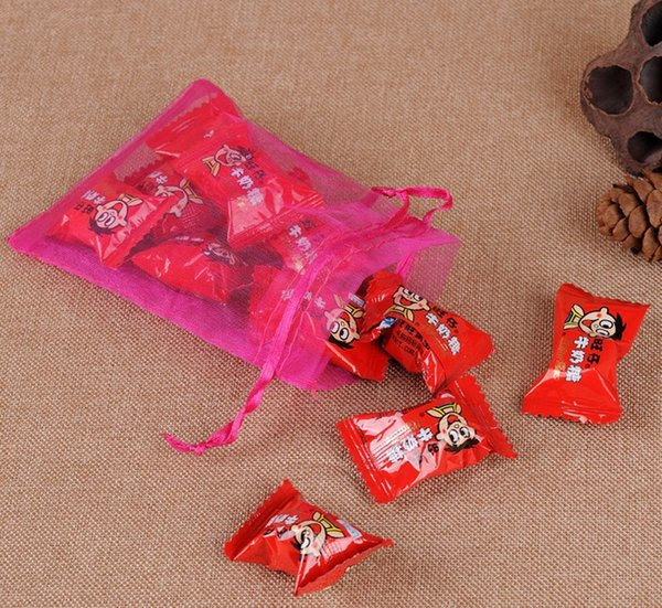 Hot Sales!Multicolor 100 PCS With Drawstring Organza Gift Bags gauze candy Bags free shipping