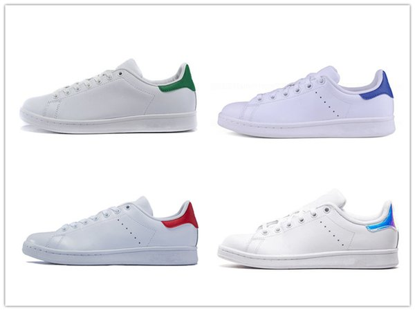 big sale c2af2 e7497 Stan Smith Red Blue Shoes For Men Women Fashion Black Leather Green White  Pink Laser Back Flat Bottom Casual Shoes Work Shoes Sneakers Shoes From ...