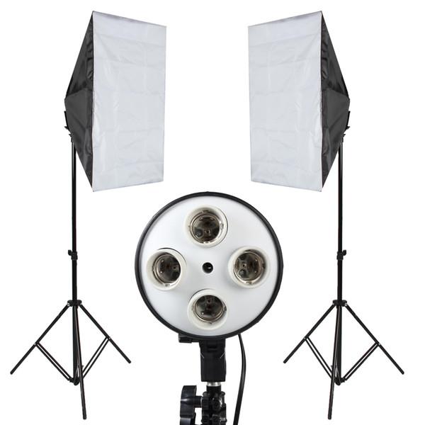 Photo Studio Softbox Kit Photo Equipment Of 2PCS 50x70 Softbox Light Stand For Camera Photo Studio Diffuser BA350