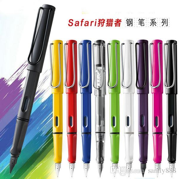 LAMY safari Colorful pens Business office financial Fountain Pen (F/EF) red converter set with gift box