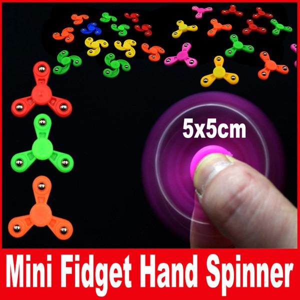 New Mini Creative Fidget Spinner Desk Anti Stress Finger Spin Spinning Top Sensory Toy Cube Gift for Children Kids Gift 5*5cm