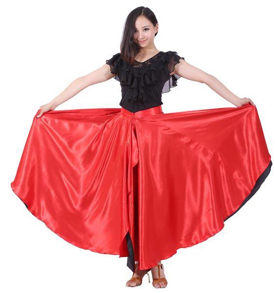 best selling Flamenco Skirt 360 Degree Spanish Dance Skirt Belly Dance Circle Big Latin skirt Swing Opening Dance Costume Free Shipping
