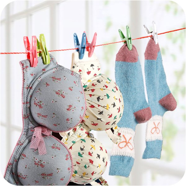 Creative Plastic Clip with Basket for Drying Clothes Quilt Socks Underwear Anti-wind Non-toxic Large Size Muti-functional Clamp