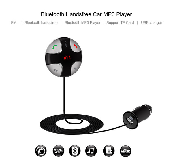 CarBest Bluetooth Wireless FM Transmitter Radio Adapter Handsfree USB Car Charger, MP3 Player Music Control Calling FM29B