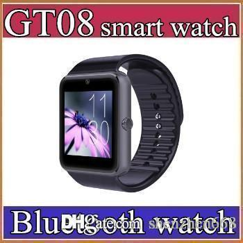 30X Best Quality Bluetooth Smart Watch GT08For Android IOS iPhone Wrist Wear Support Sync SIM/TF Card Camera Pedometer Sleep Monitoring C-BS