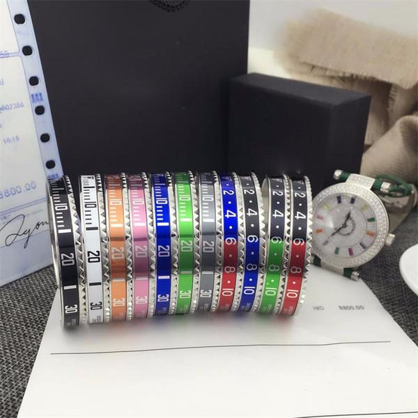 Italian tyle 316l tainle teel cuff bracelet peedometer official bracelet bangle men ilver plated fa hion jewelry 12 color