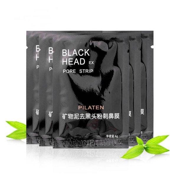 best selling 3000pcs PILATEN Facial Minerals Conk Nose Blackhead Remover Mask Facial Mask Nose Blackhead Cleaner 6g Black Head EX Pore Strip DHL Free