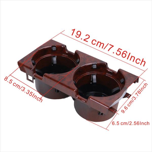 Support de boisson d'eau intérieur de voiture de grain en bois automatique pour BMW 3 séries E46 316 318 320 323 325 328 330 M3 1998-2005