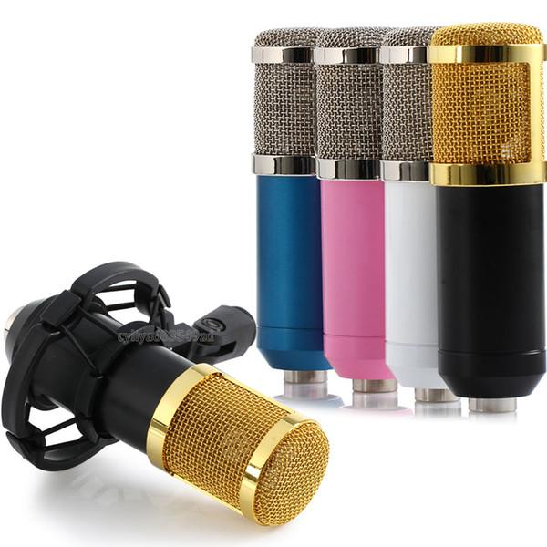 BM - 800 Dynamic Condenser Kabelgebundenes Aufnahmemikrofon Sound Studio mit Shock Mount für Aufnahmekit KTV Karaoke hoher Qualität
