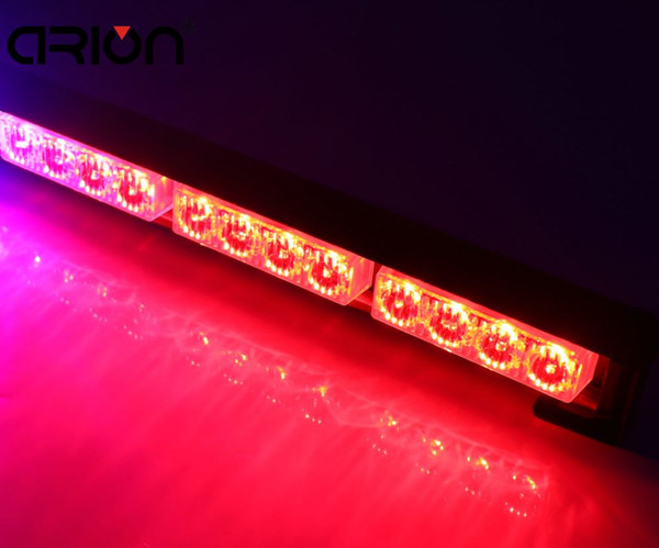 car-styling 12 LED 36W Emergency Vehicle Strobe Lights Windshields Flash Warning all Red LED Police Fireman Lamp Free Shipping