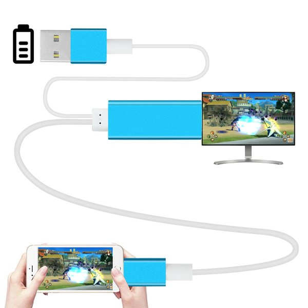 6FT 2M Phone Screen Video to HDMI For iPhone 5 6 6S 6/7Plus iPad Airplay Screen to HDMI TV HDTV Adapter HDMI Cable AV Cable Audio Connectors