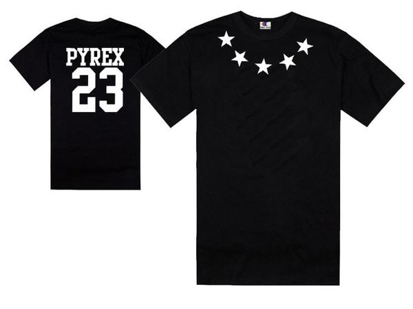 Kany west pyrex vision 23 t shirt harajuku stylish men hip hop rock swag tee shirts cotton short sleeve classical tees summer free shipping