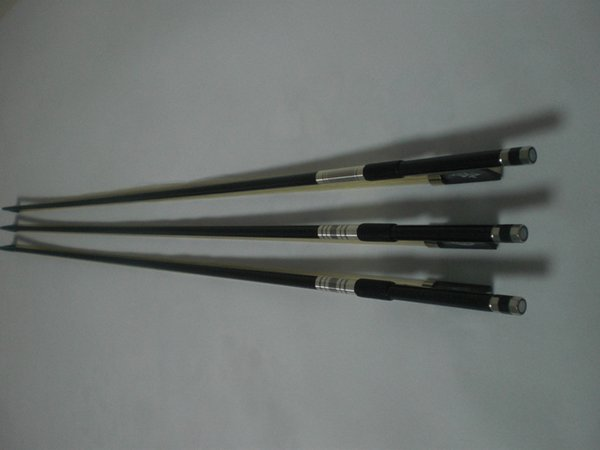 3 PCs Quality Carbon Fiber Violin bow with different ebony frog all 4/4