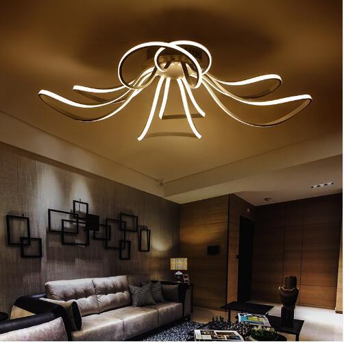 Großhandel Moderne LED Acryl Design Deckenleuchten Dimmbare Farbe  Schlafzimmer Wohnzimmer Deckenleuchte LED 110 220V Kostenlose Lieferung Von  Wsn8oby, ...