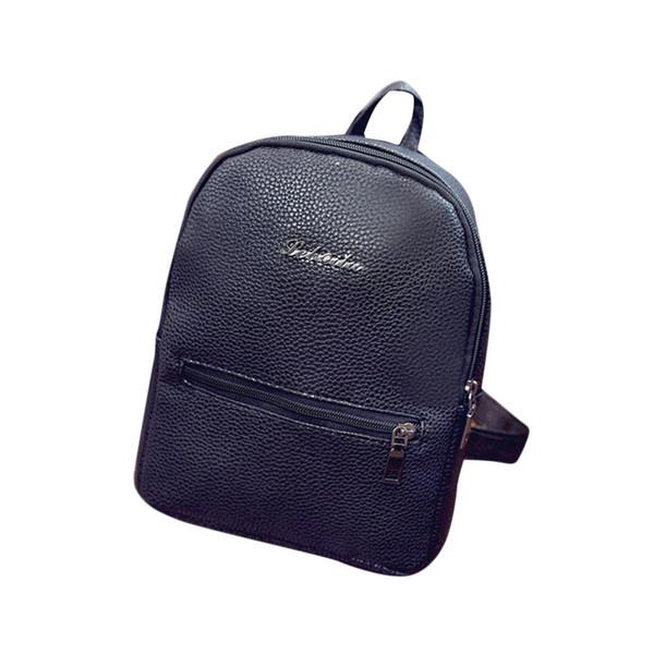 Wholesale- Ulrica Girls Leather School Bag Travel Backpack Satchel Women Shoulder Rucksack High Quality
