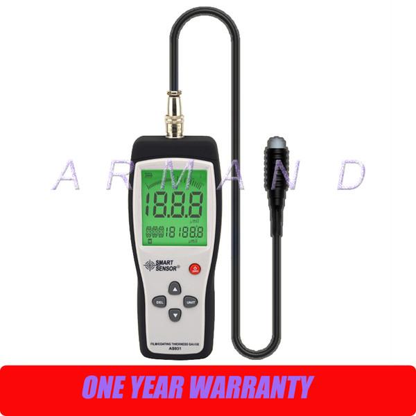 Цифровой датчик толщины пленки / покрытия AS931 Smart Sensor 0-1800um Портативный тестер толщины