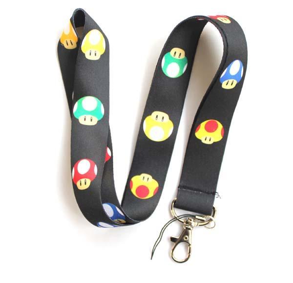 Wholesale Mixed 10 pcs Popular Cartoon Super Mario Mobile phone Lanyard Key Chains Pendant Party Gift Favors 0064