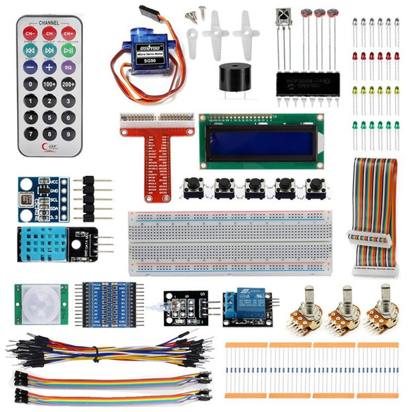 Raspberry Pi 3 Starter Kit Ultimate Learning Suite 1602 LCD SG90 Servo LED  Relay Resistors Electronic Sales Electronics Deals From Seeweb, $45 42|