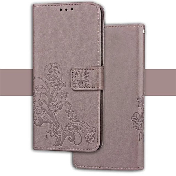 For LG X Style Tribute HD LS676 Stylus 2 LS775 Galaxy J2 Prime Lucky Clover Flower Wallet Leather Case Luxury Phone Pouch Stand Cover 1pcs