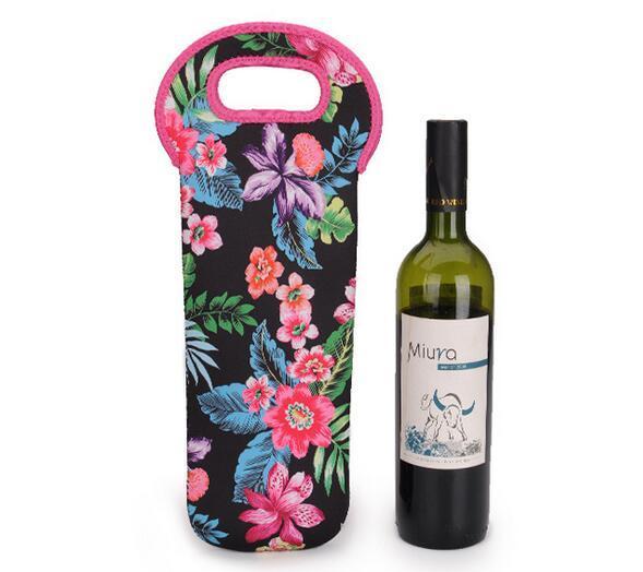 Personalized 100pcs Beer Wine Glass Single Neoprene Bottle Cooler Sleeves Holder Cover Bag Water Bottle My Bottle 750ml+print