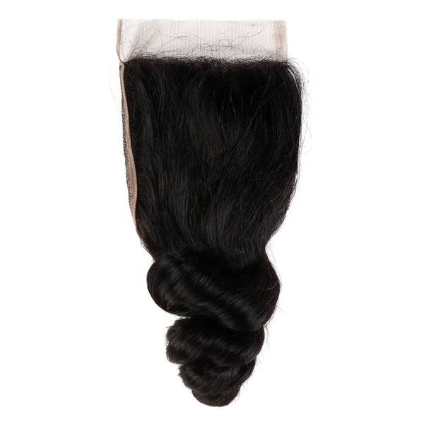 Brazilian Virgin Human Hair Closure Hair Extensions For Fashion Women, 100%unprocessed Virgin Human Hair Free Shipping