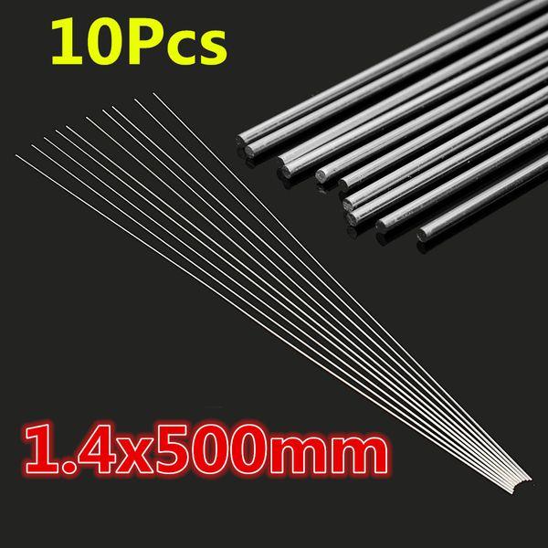 10 Adet 1.4x500mm Düşük Sıcaklık Alüminyum Tamir Kaynak Lehimleme Lehimleme Çubuklar