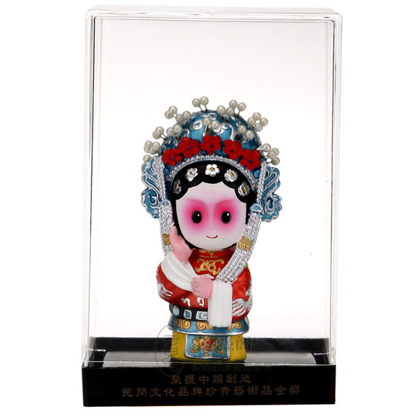 The Q version of the cartoon opera dolls Chinese traditional crafts sculpture sculpture business gifts gifts to go abroad
