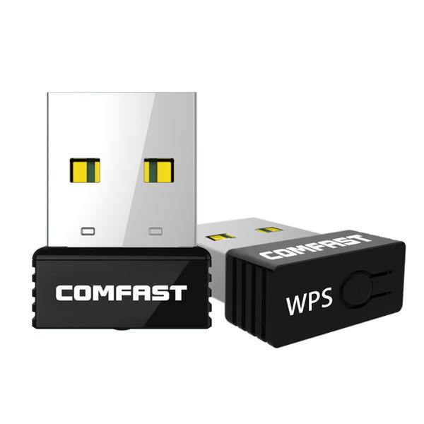 Toptan-5 adet / grup COMFAST Mini wi-fi adaptörü 150 Mbps Nano USB WiFi CF-WU712P Kablosuz N WLAN Ağ Kartı Adaptörü 802.11 n wifi dongle