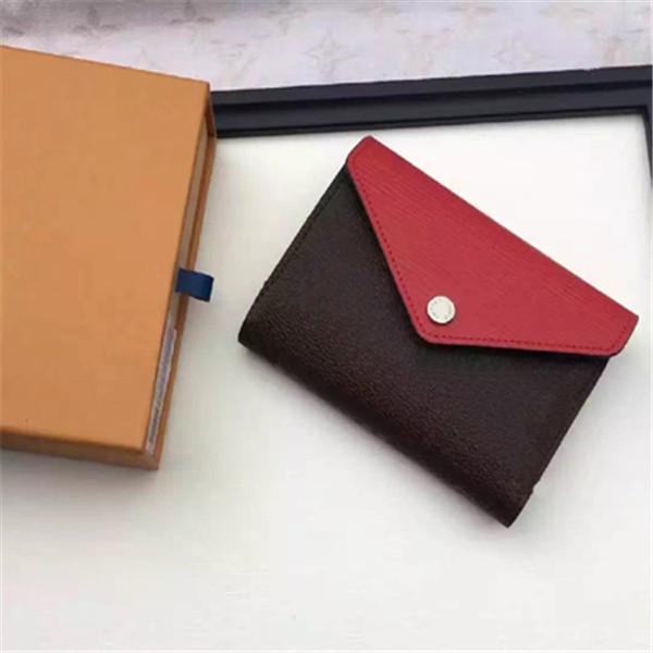 Wholesale Original Box Luxury Multicolor Coin Purse Date Code Short Wallet Card Holder Classic Zipper Pocket