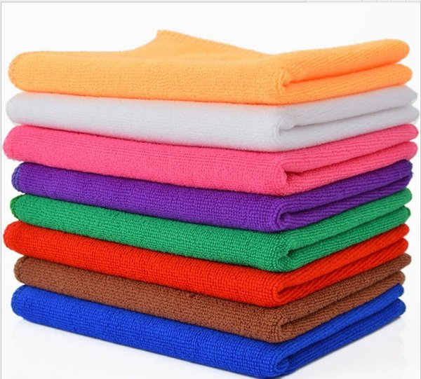 top popular 30*30cm Microfiber Car Cleaning Towel Microfibre Car wash Cloth Hand Towel Microfiber Towel Car Dry pad kitchen cleaning towels 2019