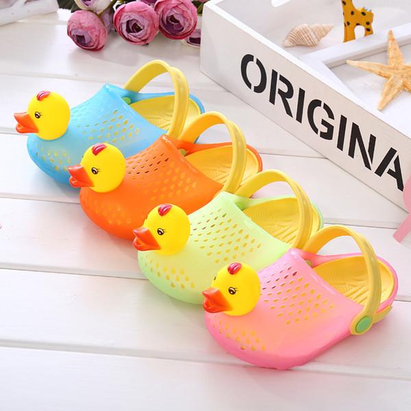 Summer Baby Shoes Kids Cartoon Duckling Sandals Breathable Garden Shoe Baby Boy Girl Beach Wear Slippers