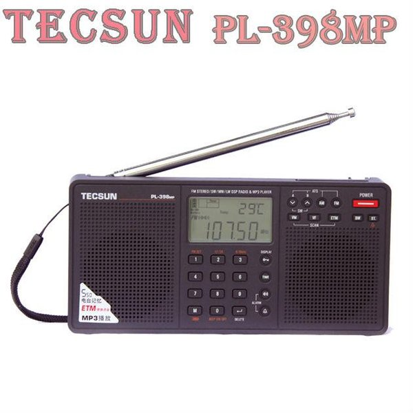 TECSUN PL-398MP Digital Radio FM MW//AM LW SW Full Bands DSP LCD MP3 Radio Player