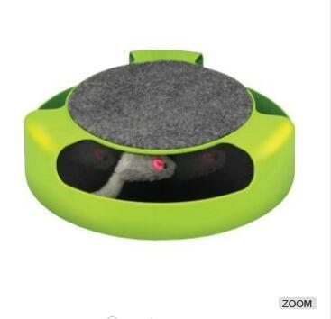 Kitty Cat Toy Scratch Pad With Rotating Toy Mouse