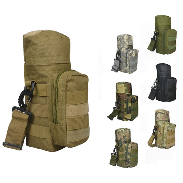 Molle Oxford Garrafa De Água Bolsa De Água Zipper Camo Garrafa De Água Tactical Pack Saco De Alta Qualidade para Viagens + B
