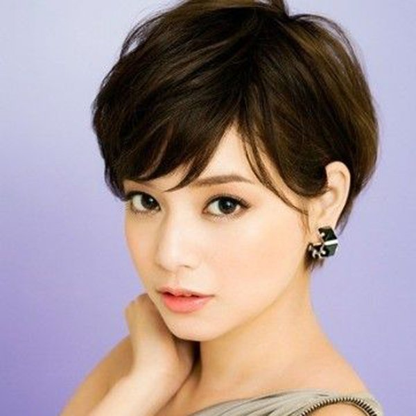 celebrity wig Machine made pixie short lace front brazilian hair human hair wig straight human hair ladies wigs for black women Short