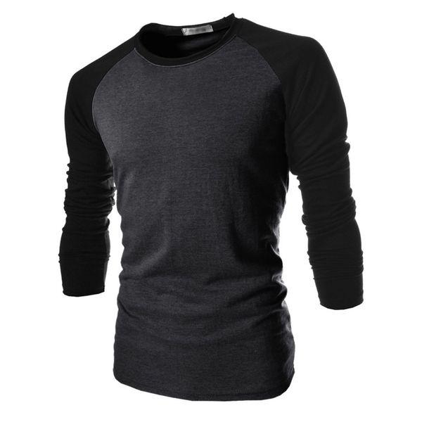 Wholesale- T Shirt Male 2017 Tshirt Mixed Colors Long-Sleeves Shirt Mens Brand T-Shirt Male Shirts Men Slim T-Shirt XXL