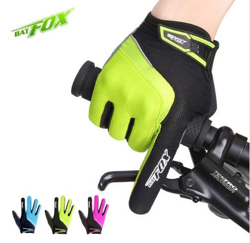 Top Quanlity 2017 Unisex Cycling Gloves Full Finger Polyester Bike Gloves MTB Road Mountain Sports Gloves Windproof Anti-shock Bicycle Glove