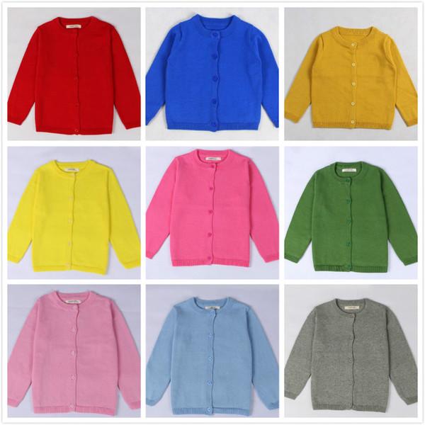 3db84eeec Girls Kids Knit Sweaters Cardigan Spring Autumn Cotton Warm Knitted Coats  Knitwear Children Pre-school