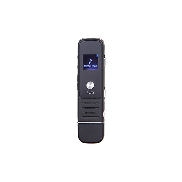Wholesale-2016 New 30 Hours USB LCD Screen Black Color Digital Audio Voice Recorder High Quality Dictaphone Player MP3 TF Card